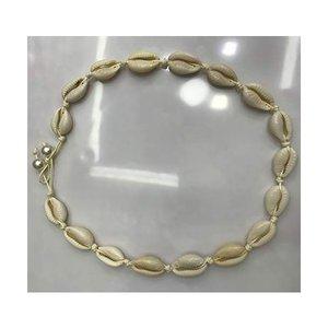 Cinhent**女性のためのシェルチョーカーネックレスボヘミアンレトロ貝殻ネックレスステートメント調節可能な海シェルペンダントコードよだれかけ襟ネッの1枚目の写真