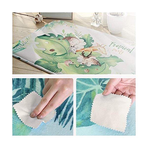 3Dプリント染め バスルームカーペット ドアマット ト シャワーマット 吸収性キッチンドアカーペット ホッキョクグマ家族枝雪の1枚目の写真