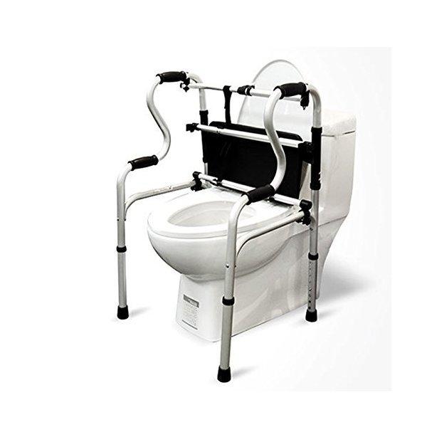XUEPING トイレシートウォーカートイレチェアトイレウォーカーハンドレールバスチェア付き車椅子の1枚目の写真