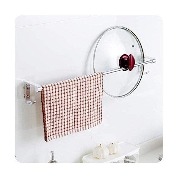 タオル掛けスペースアルミバスルームの棚タオル掛けバスルームのタオル掛けタオル掛けラックシングルレバータオルバーの1枚目の写真