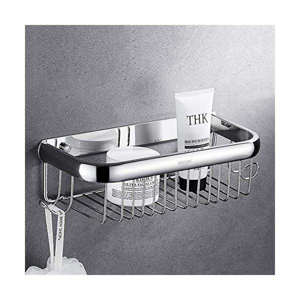Jcy 浴室のシャワー棚吊り下げ式のシャワーラック、パンチフリーの壁掛け型浴室用収納シェルフの1枚目の写真