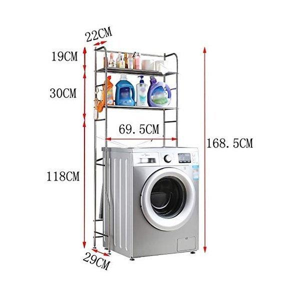 浴室用ラック 三層浴室上部収納ラック多機能洗濯ラック、ステンレス鋼浴室ラック、フロアスタンド浴室収納ラックの1枚目の写真