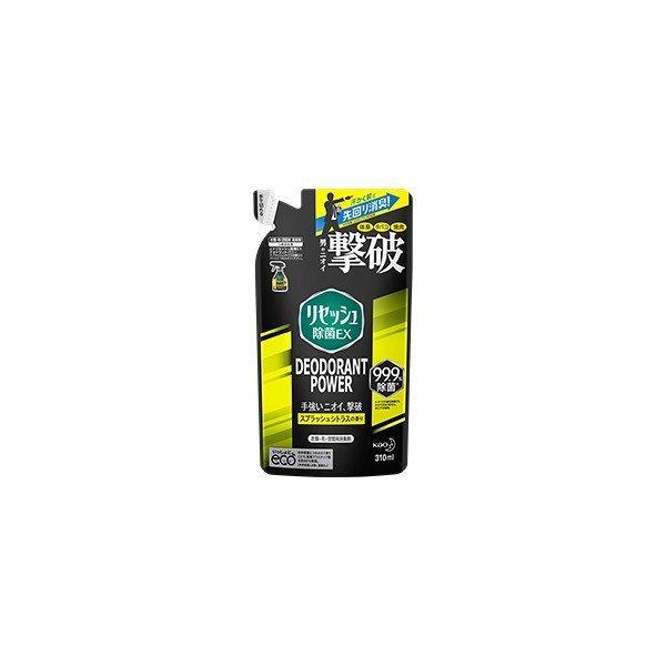 リセッシュ 除菌EX デオドラントパワー スプラッシュシトラスの香り つめかえ用 310ml 花王 消臭芳香剤の1枚目の写真