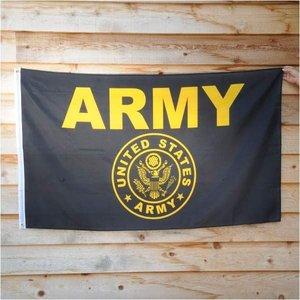 フラッグ U.S.ARMYフラッグ 89cm×156cm ブラック Flag 旗 大判 米軍 陸軍 ミリタリーの1枚目の写真