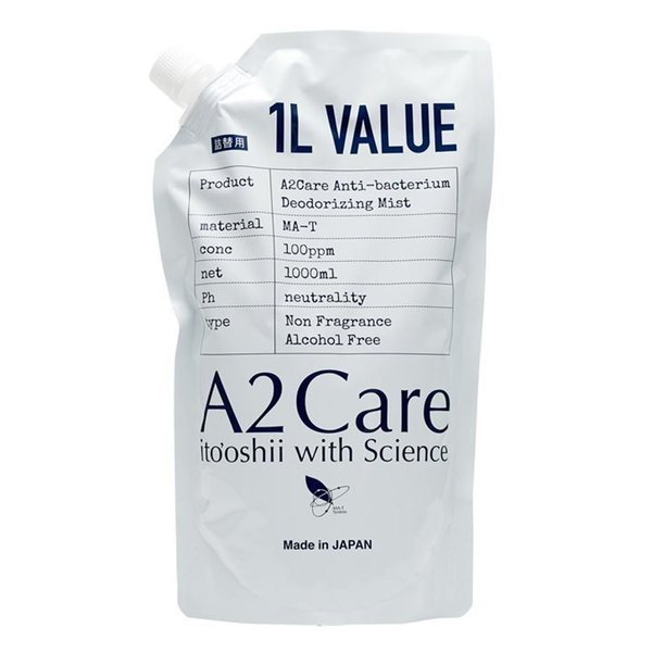 A2Care エーツーケア 除菌 消臭剤 1L 詰替用の1枚目の写真
