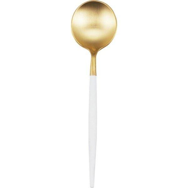 クチポール 単品 ティー スプーン GOA ゴールド×ホワイト GO.11 WGBの1枚目の写真