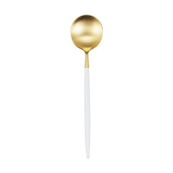 クチポール 単品 デザート スプーン GOA ゴールド×ホワイト GO.08 WGBの1枚目の写真
