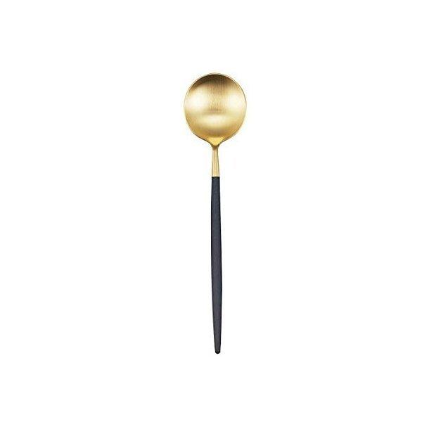 クチポール 単品 デザート スプーン GOA ブラックxゴールド GO.08 GBの1枚目の写真