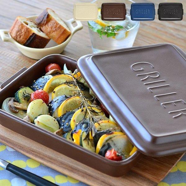 グリラー GRILLER TOOLS ツールズ 耐熱 陶器 電子レンジ 魚焼きグリル 食洗器対応 グリルパン トースター 直火 ツールズグリラー イブキクラフトの1枚目の写真