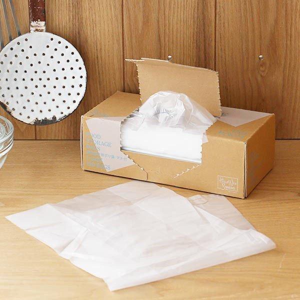ポリ袋 食品保存袋 L カサカサタイプ 半透明 1箱 ロハコ オリジナルの1枚目の写真