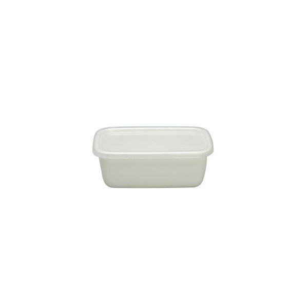 保存容器 ホーロー 日本製 おしゃれ 野田琺瑯ホワイトシリーズ レクタングル深型S WRF-S ホーロー保存容器の1枚目の写真