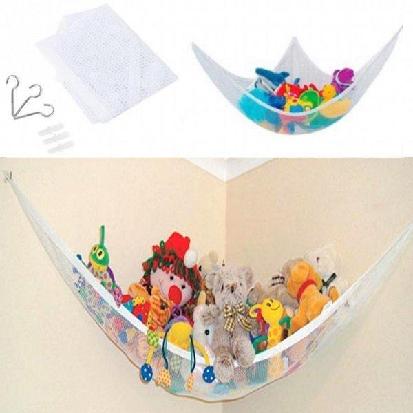 おもちゃ収納用ハンモック ぬいぐるみ 玩具 片付け 吊り下げ ネット _.の1枚目の写真