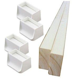 WAKAI ディアウォール 上下パッド ホワイト×2 + 2×4材 2本 セットの1枚目の写真