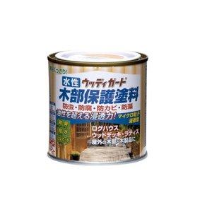 ペンキ 塗料 水性 木部保護 ウッドデッキ ニッペ 水性ウッディガード 0.2Lの1枚目の写真