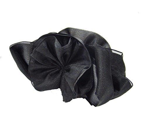 haclm703nnnbk ヘアアクセサリー 髪飾り  バナナクリップ パーティーグレース ブラックの1枚目の写真