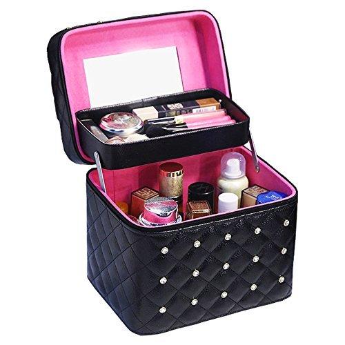 Twinkle goods  メイクボックス コスメボックス 化粧品 収納 PUレザー の1枚目の写真