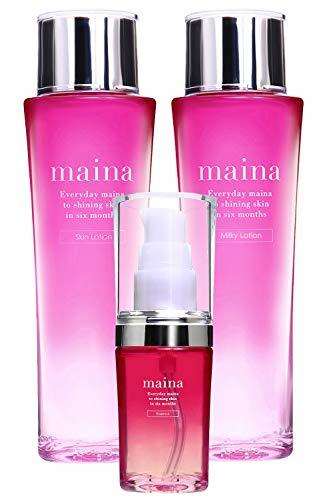 maina 美白 保湿 化粧水 & 美容液 & 乳液 スキンケアセット 120ml & 30ml &の1枚目の写真