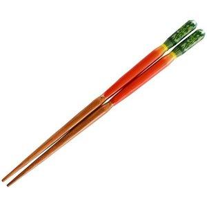 若狭の塗箸 3D野菜の お箸 16.5cm 赤大根 10378の1枚目の写真