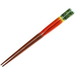 若狭の塗箸 3D野菜の お箸 18cm 赤大根 10361の1枚目の写真