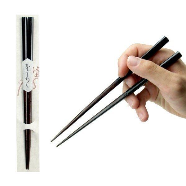 アサヒ興洋 高級国産塗箸 本漆 黒文字 黒色 22.5cm 399の1枚目の写真