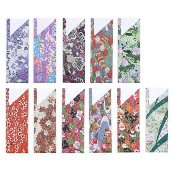 大黒工業 箸袋 マルチカラー 3.5×9.7cm 友禅 11柄アソート 104726 500枚入の1枚目の写真