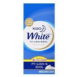 花王 ホワイト バスサイズ 6コ箱780g/ ホワイト 固形石鹸の1枚目の写真