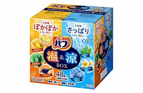 【限定品 48錠】 花王 バブ 温&涼 BOX (48錠入) 薬用入浴剤 錠剤タイプの1枚目の写真