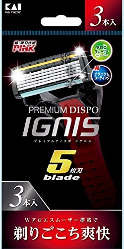 PREMIUM DISPO IGNIS5枚刃 使い捨てカミソリ 3本入の1枚目の写真