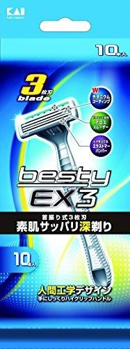besty EX33枚刃 使い捨てカミソリ 10本入の1枚目の写真