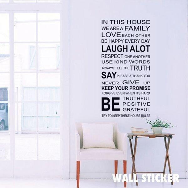 ウォールステッカー タイポグラフィ・英文 文字 英字 フォント 英語 デザイン 北欧 シール 壁紙 かわいい おしゃれの1枚目の写真