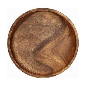 木製食器 アカシアラウンドトレー L アカシア70192 ブラウン 1人用の1枚目の写真