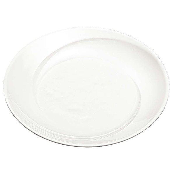 国際化工 マルケイ クリスタ 23cmひねり丸皿 アイボリーホワイト・C E227 IWC メラミン食器 メラミンウェアの1枚目の写真