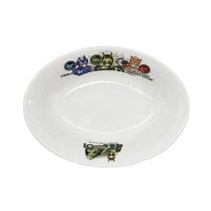 磁器製 こども カレー皿 楕円 深皿 仮面ライダーゼロワン 特撮ヒーロー 金正陶器 日本製 男の子向けの1枚目の写真