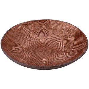 山下工芸 銅器彩 波彫三寸皿 10.5×10.0×2.0cm 16061280の1枚目の写真