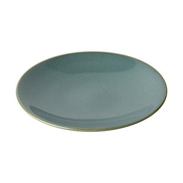 つかもと 中皿 ブルー 15.6cm 益子焼 ソーサー 伝統釉シリーズ 益子青磁釉 KKS-4の1枚目の写真