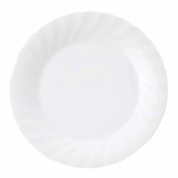 東希 大皿 ホワイトシェル ミート 直径23.2cm 63903-147の1枚目の写真