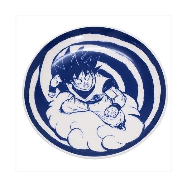 ラウンドプレート 陶磁器製絵皿 ドラゴンボールZ 孫悟空 エンスカイ 15cm 食器ギフト アニメキャラクターの1枚目の写真