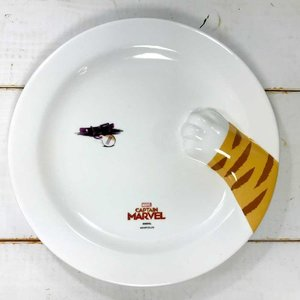 プレート キャプテンマーベル グース 猫 雑貨 プレゼント アベンジャーズ グッズ マーベル グッズ お皿 丸皿 パスタプレートの1枚目の写真