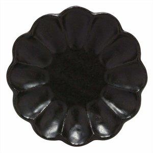 美濃焼 カネコ小兵 黒練輪花 14 プレート 555-0045の1枚目の写真