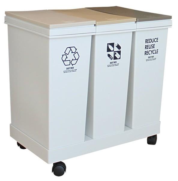 資源ゴミ 3分別ワゴン 横型の1枚目の写真