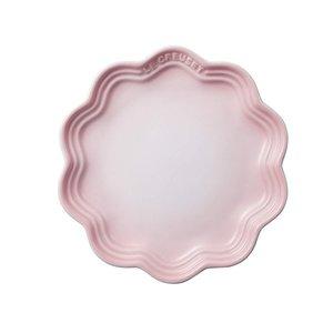 ル・クルーゼ フリル・プレート 中皿 シェルピンク 18cmの1枚目の写真