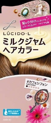 ルシードエル ミルクジャムヘアカラー#カフェシフォン レディース用 髪染め 1剤40g・2剤80ml・TR5g  マンダムの1枚目の写真