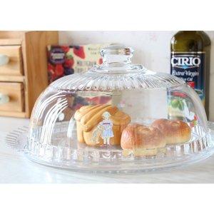 マニープチメゾン ガラス ケーキドームソーサーの1枚目の写真