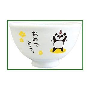 ひとことアニマル 茶碗 パンダおめでとう AR-1446-2|b03の1枚目の写真