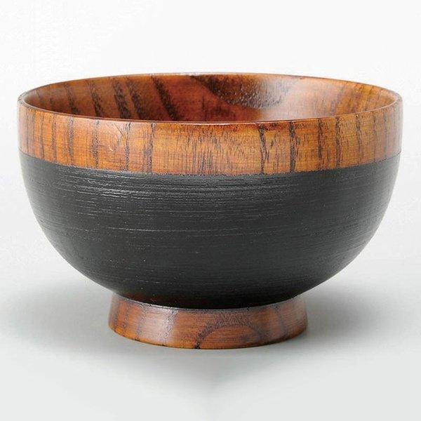 木製 食器 汁椀 おしゃれ かわいい |汁椀 紀美野 S01-16 黒の1枚目の写真