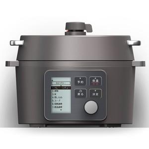 アイリスオーヤマ 電気圧力鍋 2.2L レシピブック付き ブラック KPC-MA2-Bの1枚目の写真