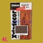キシラデコール 屋外用 油性 高性能木部保護塗料 色:#111 ウォルナット 4Lの1枚目の写真
