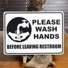サインボード Please Wash Hands 看板 CA-04 プラスチックサイン プラスチックボード ティンサイン インテリア TINサインの1枚目の写真