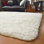 ラグ ラグマット 洗える シャギー 3畳 約190cm×240cm アイボリー 白 SARAH サラ 毛足30mmのふわふわさらさらエアリーパイル おの1枚目の写真
