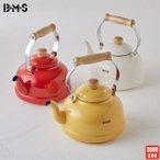 富士ホーロー BMS ビームス シンプル ケトル ホーロー 2.3L ホワイト・レッド・イエロー IH対応 やかん キッチン用品の1枚目の写真